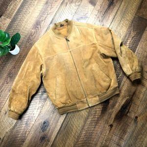 JOHN ASHFORD m Leather Bomber Jacket
